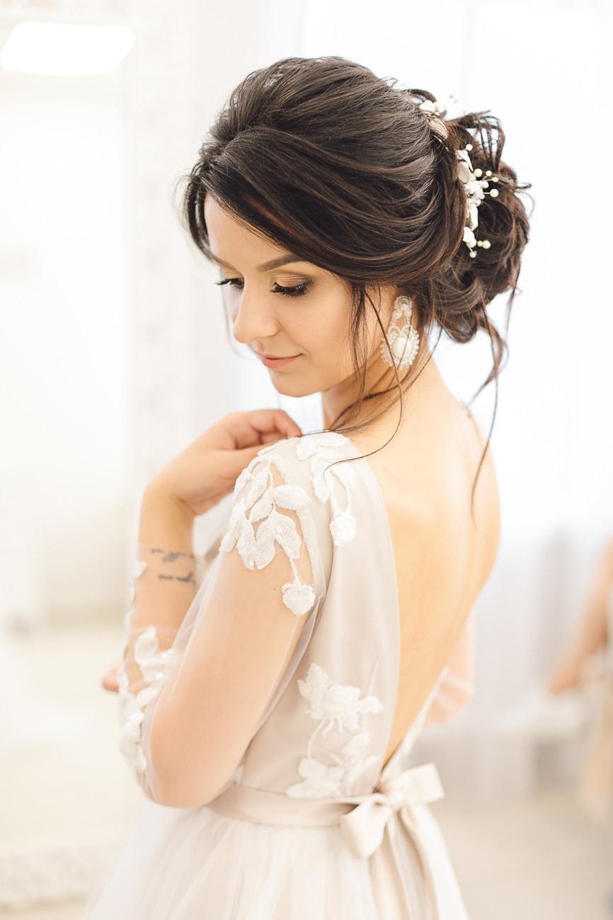Urocza Panna Młoda w dniu ślubu